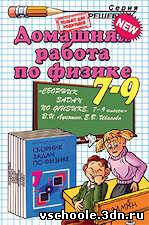 ГДЗ к сборнику задач по физике 7–9 класс Лукашик В. И. и др.
